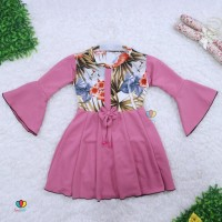 Dress Sissy 3-4 Tahun - Dress Anak Lengan Panjang 3Per4 Baju Perempuan