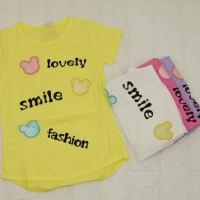 Pakaian Baju Anak Perempuan Kaos Lengan Pendek Import Murah B-022