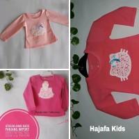 Baju Anak Kaos Perempuan Lengan Panjang 1-3 Tahun