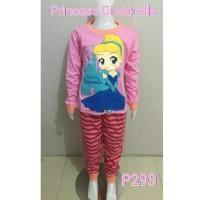 Setelan Baju Tidur Anak Perempuan Princess Cinderella (P293)