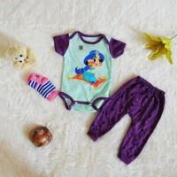 Baju Anak Bayi Perempuan Set Jumper Plus Kaos Kaki Motif Disney