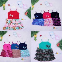 Dress Valerie Uk 3-4 Th Dress Anak Perempuan Murah Tanktop Baju Anak