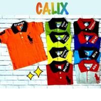Baju Kaos Polo Anak Baby Premium M 7-8Thn Laki Laki Perempuan
