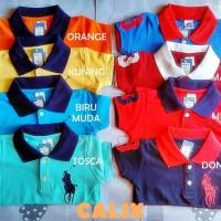 Baju Kaos Polo Anak Baby Premium S 5-6Thn Laki Laki Perempuan