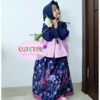 Cta 1 Baju Muslim Anak 8-12 Tahun Gamis Anak Cutetrik Bolero Pink Navy