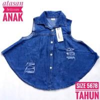 Baju Anak Perempuan Atasan Outerwear Jeans Anak Oshkosh Dark Blue 5 6