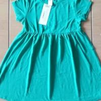Dress Anak Oshkosh Polos Hijau - Atasan Anak Cewek - Baju Anak