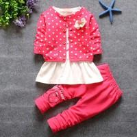 Baju Anak Perempuan 3Set Untuk Usia 1 Sampi 4 Tahun