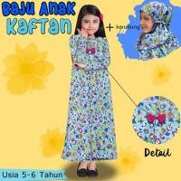 Baju Gamis Anak Perempuan Model Kaftan Karakter Usia 5 6 7 8 9 10