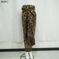 Rok Lilit Serut Span Sogan Songket Kebaya Print Batik Free Gesper 7