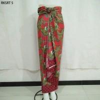 Rok Lilit Serut Span Sogan Songket Kebaya Print Batik Free Gesper 5