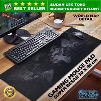 Gaming Mouse Pad Besar 300 x 800 mm Motif Peta Dunia