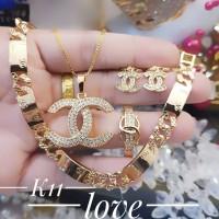 xuping set perhiasan lapis emas 24k 3010