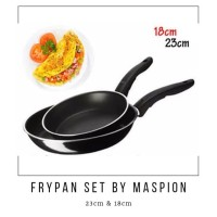 TEFLON FRYPAN SET 2IN1 BY MASPION