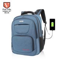 Polo Villa Backpack USB Expandable MAN 31L 14046 - Biru