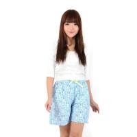 dnb - Celana Pendek Katun Jepang -Girl Shorts Pant/Kelinci Biru