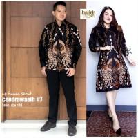 Batik couple dress wanita motif cendrawasih kemeja cowok lengan pendek