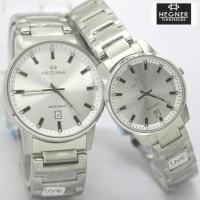 Jam Tangan Hegner 6601 Silver White Original Couple Murah *Harga/Pcs