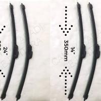 """Wiper Frameless Full Karet Honda jazz uk. 24-14"""""""