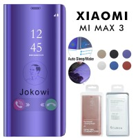 Clear View Cover XIAOMI Mi Max 3 Case Standing Flip Cover