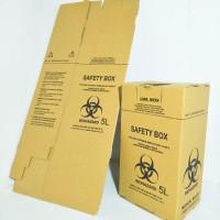 Safety box 5 liter warna cokelat/ brown + tali | Tempat sampah medis
