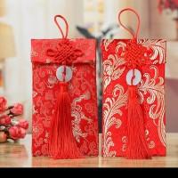 Angpao Imlek amplop Tahun Baru Cina Imlek bahan angpao kain brokat