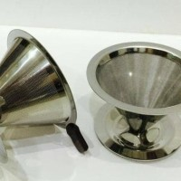 Cone Pour Over / Drip Coffee Cone Stainless Filter 1-2 Cups