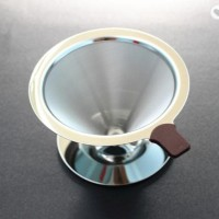 v60 metal/v60 stainless coffee dripper coffee maker