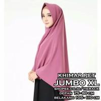 Khimar Pet JUMBO XL - Jilbab Kerudung Simple Penguin Syari Instan