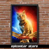 Poster Film Captain Marvel - Goose 40x60 + Frame