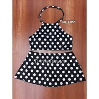 Baju renang set pants motif polkadot / Baju renang wanita / Swimsuit