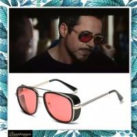 Kacamata sunglasses tony stark classic vintage Pria - Hitam