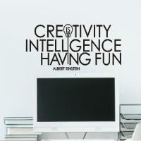 Wall Stiker Creativity Quotes Dinding Cutting Sticker Decor Kantor
