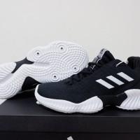 SEPATU BASKET ADIDAS PRO BOUNCE 18 LOW BLACK WHITE