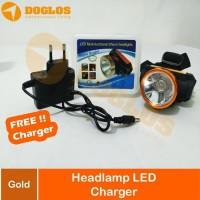 Headlamp senter kepala LED LITHIUM SX-999 included Charger Terang