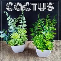 Kaktus mini bunga plastik palsu artificial dekorasi rumah cafe