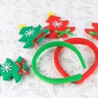 bando natal christmas santa clause hiasan kepala snowman