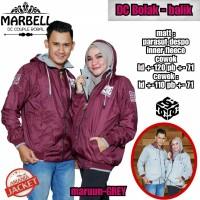 Baju Jaket Couple Mirabel Dc Bolak-Balik Bahan Parasut Despo