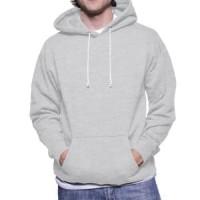 Size XXL - Jaket Sweater Hoodie Jumper Polos Abu Misty Muda Murah