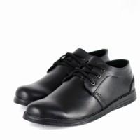 Sepatu Kerja Ga'ki Pantofel Kantor Formal Pria Kulit Berkualitas - Hitam, 40