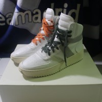 FEAR OF GOD LEATHER BASKETBALL SNEAKERS WHITE