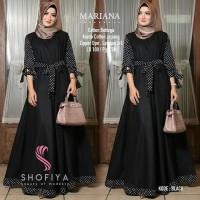 Baju Gamis Wanita Muslim Terbaru Mariana Polka Dress Termurah