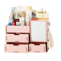 Rak Kosmetik Bahan Kayu CERMIN / cosmetic storage R57 TEMPAT MAKE UP