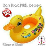 ban renang pelampung anak lobang kaki bebek kuning untuk anak 1-5thn