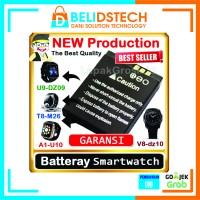 DSTECH BATERAI SMARTWATCH U9, U10, M16, V8 ORIGINAL