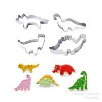 Cookie Cutter Dinosaur / Cetakan Kue Biskuit Nugget DN Set-01