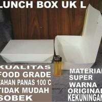 Paper lunch box Tutup 100ps uk L food tray makan kotak kertas Surabaya