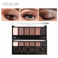Focallure Smokey Eyeshadow Palette 6 warna original