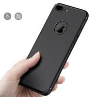 Case iPhone 7/7 Plus +/6/6s Slim Silicone Casing Black [Premium!]