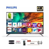 Philips 55PUT6002 4K Smart Android LED TV - Hitam (55 inch ) DVB-T2